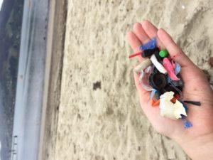 ビーチで10分くらい歩いて拾ったプラスチック